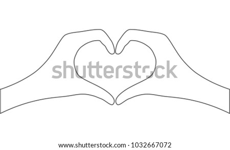 hands with heart shape - abstract icon