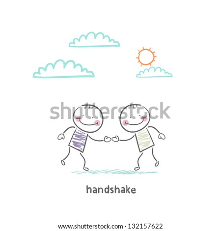 handshake - stock vector