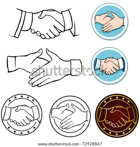 handshake - stock vector