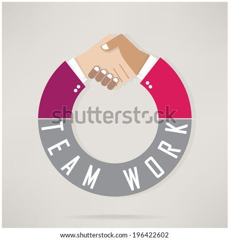 Handshake abstract design template. Business concept.Partnership symbol.teamwork concepts.vector illustration - stock vector