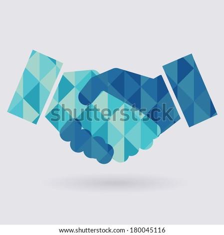Handshake abstract icon  - stock vector