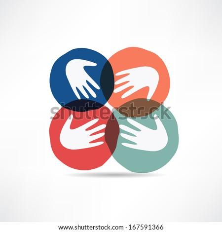handshake and friendship icon - stock vector