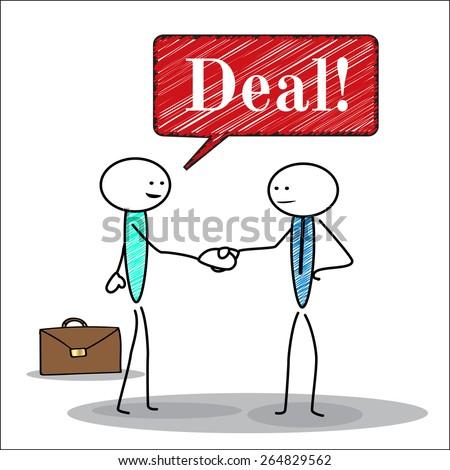 Handshake, business deal - stock vector