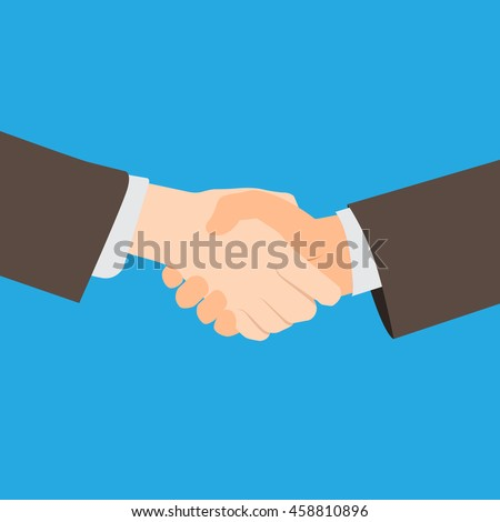 Handshake corruption concept. Vector illustration. copy space