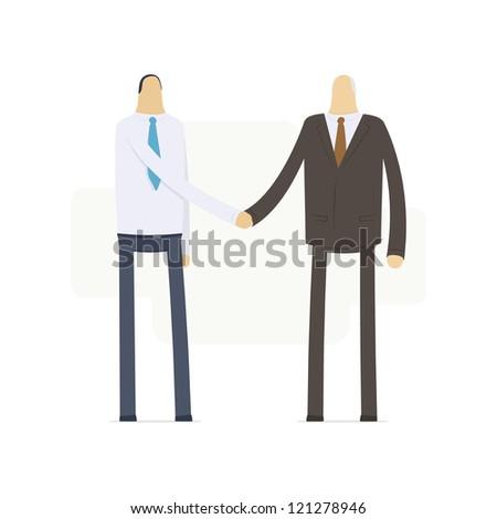 handshake employee and boss - stock vector