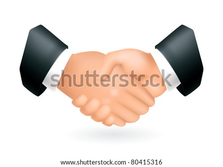 Handshake, icon - stock vector