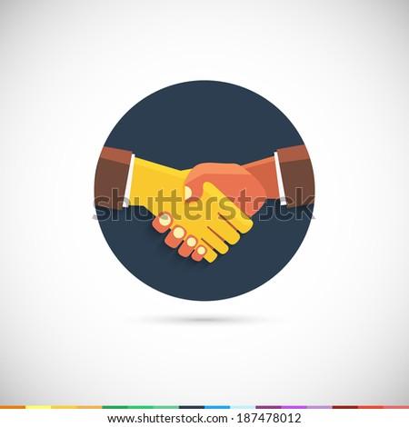 Handshake icon. Business partnership concept. Vector Illustration EPS10. - stock vector