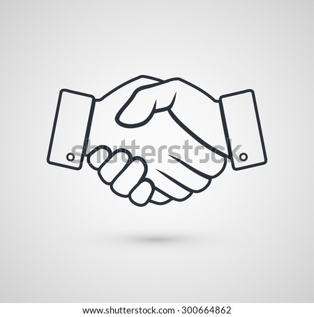 Handshake icon for business. Vector illustration - stock vector