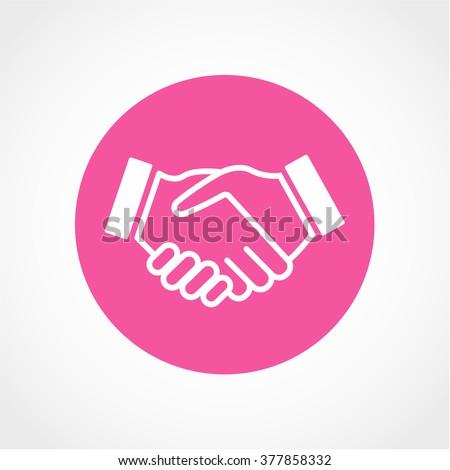 Handshake Icon Isolated on White Background - stock vector