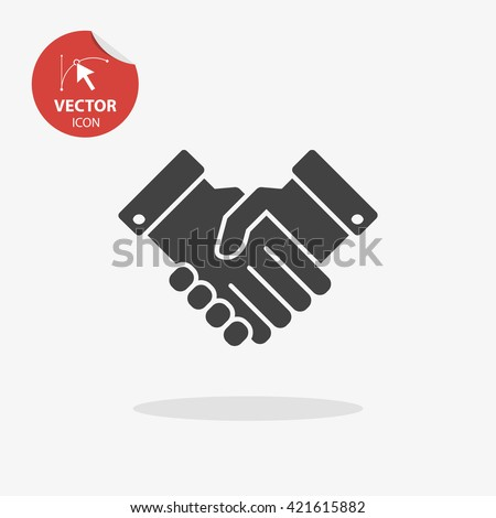 Handshake icon vector, handshake icon flat, handshake icon sign, handshake icon app, handshake icon UI, handshake icon logo, handshake icon web, handshake icon EPS, handshake icon picture - stock vector
