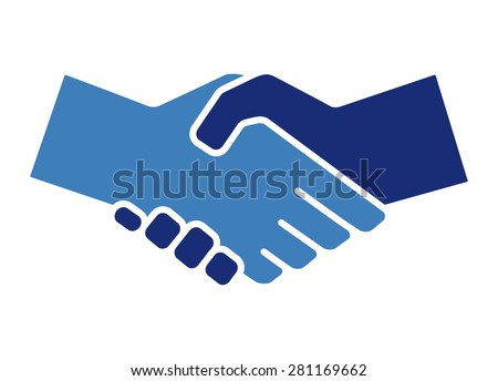 Handshake Icon. Vector illustration - stock vector