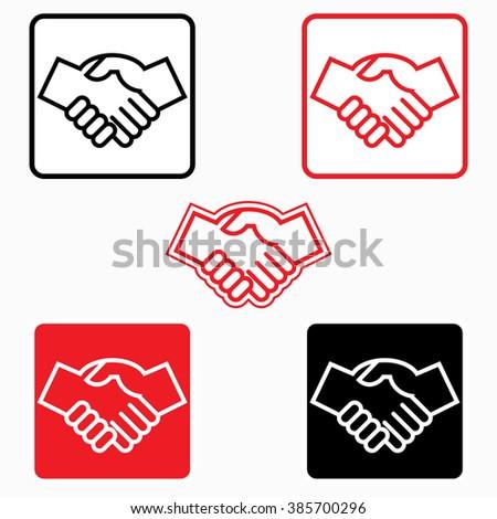 Handshake icon - vector illustration, graphic element - stock vector