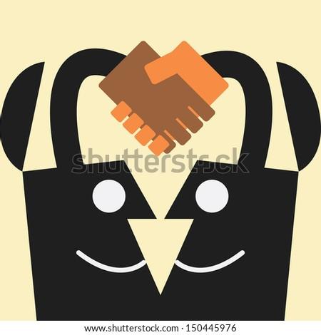 handshake idea concept - stock vector