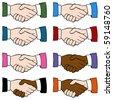 Handshake Set - stock vector