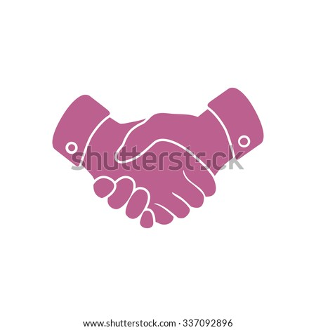 Handshake sign icon. Successful business symbol. Flat design style. - stock vector