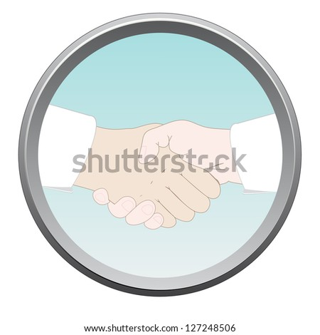 Handshake sign. Vector - stock vector