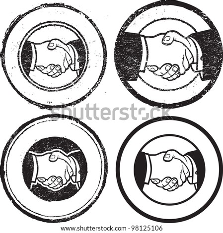 Handshake Stamp - stock vector