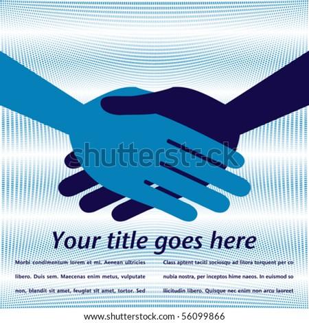 Handshake symmetry. - stock vector