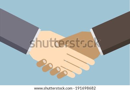 Handshake, vector - stock vector