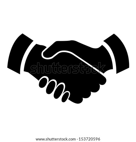 Handshake vector icon - business concept - stock vector