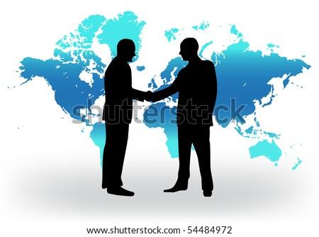 Handshake vector illustration - stock vector