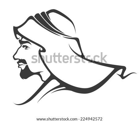 handsome arabian man - stock vector