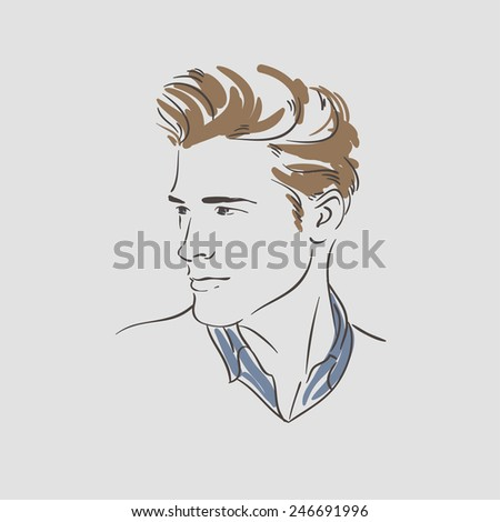 Handsome young man vector illustration - stock vector