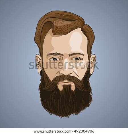 Man With Long Beard St...