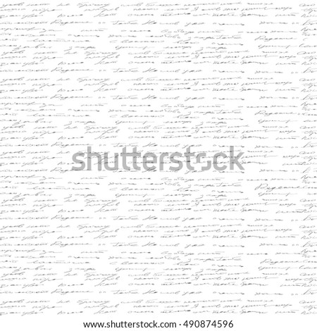 handwriting seamless pattern. Vector