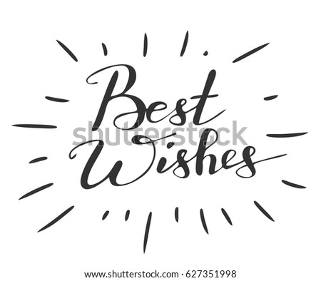 Handwriting Words Best Wishes On White Stock Vector 627351998 ...