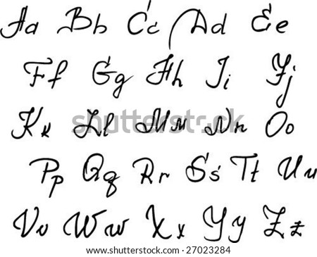 Worksheets Beautiful Handwriting Alphabet gejras portfolio on shutterstock handwritten alphabet