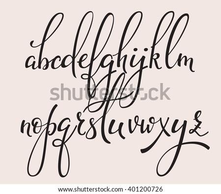 Cute fonts alphabet cursive