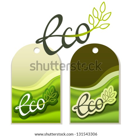 Handwritten Eco labels