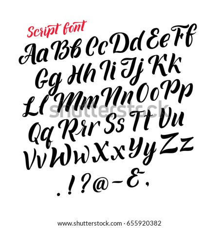 neat handwriting abc letters