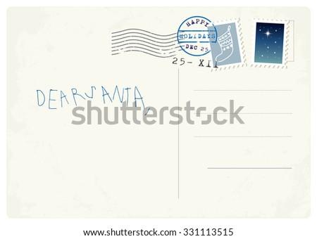 Handwritten letter santa child stock vector 331113515 shutterstock handwritten letter to santa from child spiritdancerdesigns Choice Image