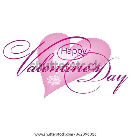 Handwritten Valentine's Day calligraphy. Vector illustration. - stock vector