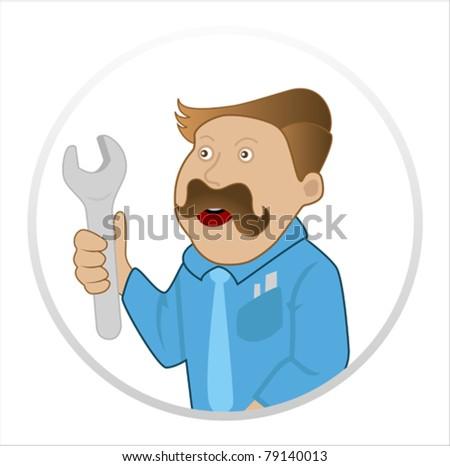handyman - stock vector