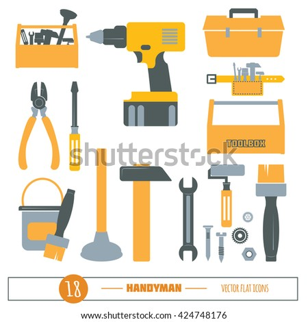 Logo construction tools carpentry tools master stock for Tools to build a house