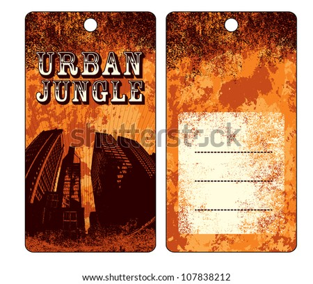 Hang Tag Design Stock Vector 107838212 - Shutterstock