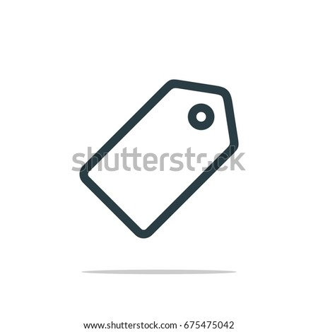 Hang Tag Icon Logo Template Stock Vector    Shutterstock