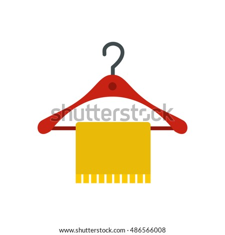 Bathroom Sign Vector Style hanger towel icon flat style isolated stock vector 486566008