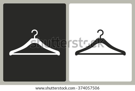 Hanger   -  black and white icons. Vector illustration.  - stock vector