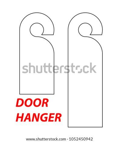 Great Door Hang Tag Template Pictures White Cardstock Door - Door name tags templates