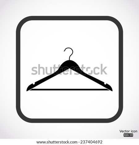 hanger icon - black vector illustration - stock vector