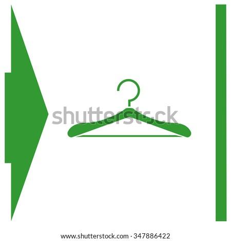 Hanger vector icon. - stock vector