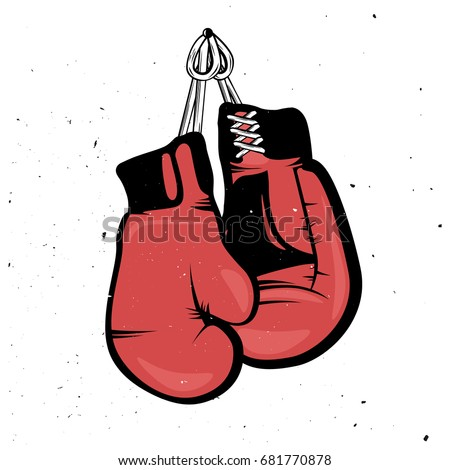 Hanging boxing gloves vector