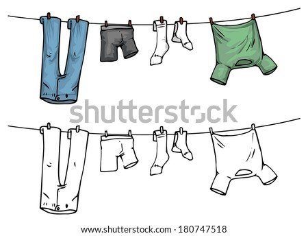 how to keep hangers on a clothesline