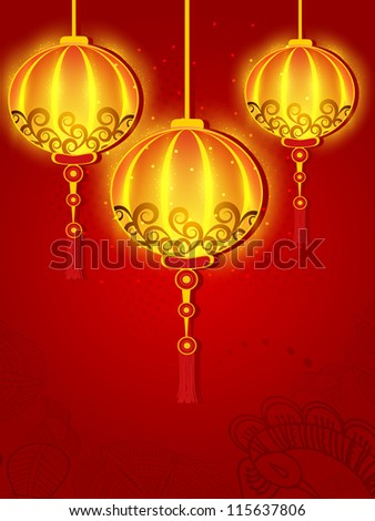 Hanging Lamp For Diwali Festival In India EPS 10