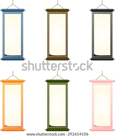 hanging scroll - stock vector