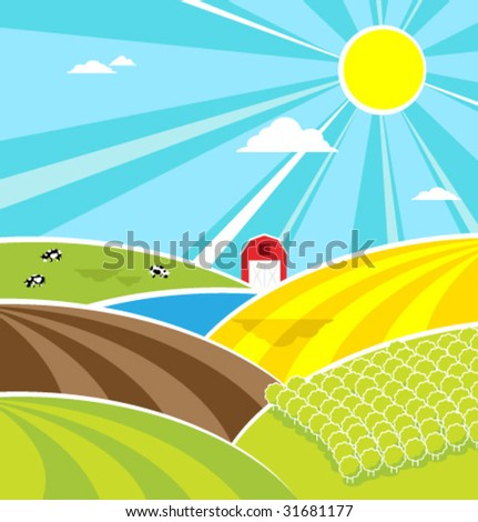 Happiness summer background. Vector illustration. - stock vector